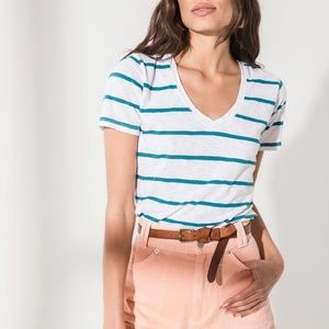 NWT Z Supply The Vienna Striped V Neck Tee
